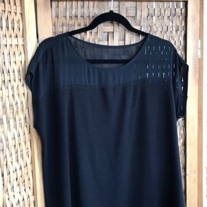 Ann Taylor Mixed Media Cap Sleeve Top NWOT